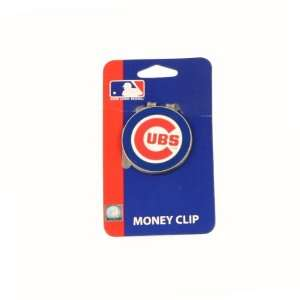 Chicago Cubs Logo Shaped Money Clip: Sports & Outdoors
