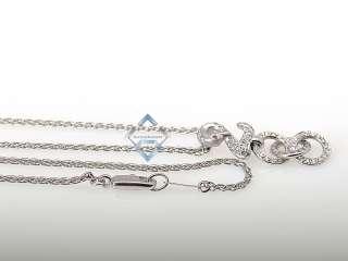 Carrera y Carrera 18K White Gold Diamond Swan Necklace