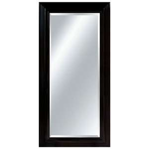 Imagination Mirrors Midnight Large Wall Mirror in Jet Black Decor