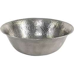 Hand hammered Satin Nickel Vessel Sink