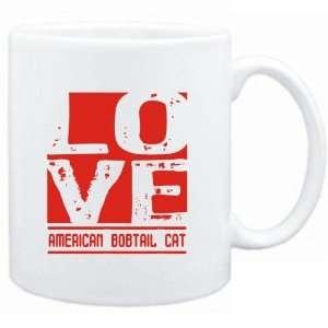 Mug White  LOVE American Bobtail  Cats