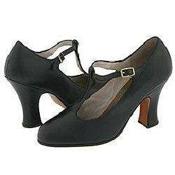 Capezio Stage T Strap 3 Black Pumps/Heels