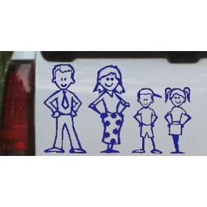 Stick Family Stick Family Car Window Wall Laptop Decal Sticker    Blue