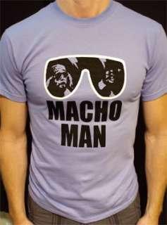 Macho Man t shirt vintage style randy savage wwf lav*
