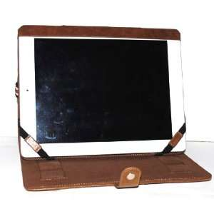 Premium Apple Ipad 2 New ipad 3 Tablet Brown Solid Color