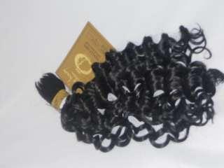 100% HUMAN HAIR BULK BRAID BOHEMIAN DEEP WAVE EXTENSION