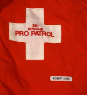 This is a professional Apache Ski Patrol coat made by Robert John.