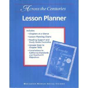 Houghton Mifflin Social Studies Across the Centuries Lesson Planner