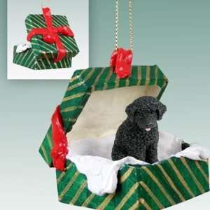 Portuguese Water Dog Christmas Ornament Hanging Gift Box