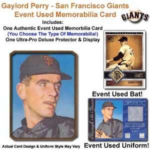 San Francisco Giants Gaylord Perry Event Used Memorabilia