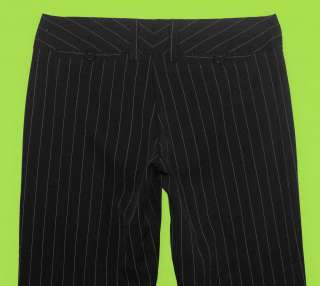 XOXO sz 1 Juniors Womens Black Penstripe Dress Pants Slacks Stretch