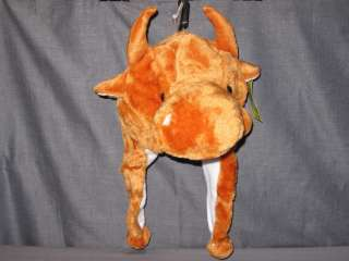 Brown Cowboy Rodeo Bucking Bull Animal Winter Wear Sock Hat Cap Adult
