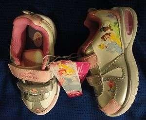 Princess Tennis Shoes Cinderella Girls Sneakers Childrens Walking NWT
