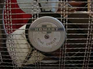 VINTAGE 1940s ART DECO FAN HOMART COOLER BOX FAN  ROBUCK ANTIQUE