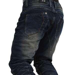 J505) TheLees Mens Casual Premium Washing Low rise Slim Straight