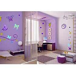 Butterflies Repositionable Wall Art Decals (Set of 2)