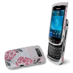 Premium   Blackberry Torch 9800 Full Diamond Protex Winter Rose