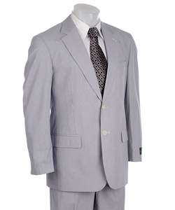 Alexander Julian Mens Navy/ White Pincord Suit