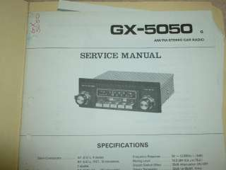 PIONEER Car AM/FM Stereo Radio GX 5050 Original paper SERVICE MANUAL