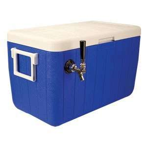 Single Faucet Jockey Box   48 Qt. Cold Plate Cooler   Blue