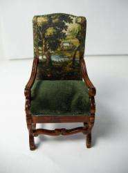 Dollhouse Custom Upholstered Furniture Tudor style Chair