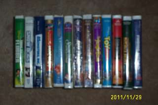 VHS MOVIE BUNDLE TOY STORY MICKEY SNOW WHITE JUNGLE BOOK LION KING II