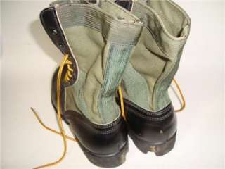 1968 COMBAT BOOTS MEN 9 N VTG MILITARY JUNGLE VIETNAM WAR SPIKE