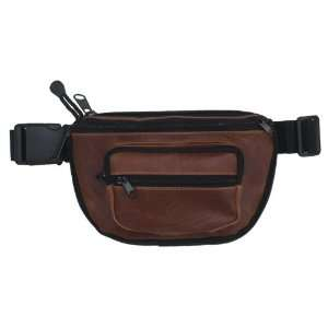 Concealed Carry Fanny Pack BUFFALO LEATHER Brown:  Sports
