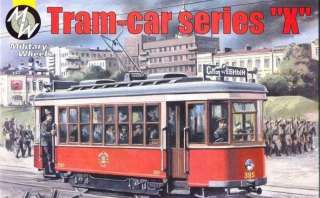 MILITARY WHEELS 1/72 SCALE RUSSIAN TRAM CAR MODEL KIT