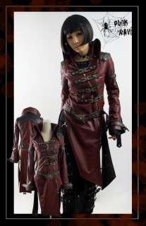Unisex Kera Visual Kei Punk Cyber long Jacket y261