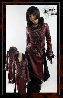 Unisex Kera Visual Kei Punk Cyber long Jacket y261