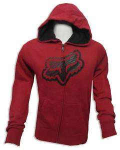 FOX RACING POINT TO THE FENCE HOODIE SWEAT SHIRT MX MOTOCROSS RED NWT