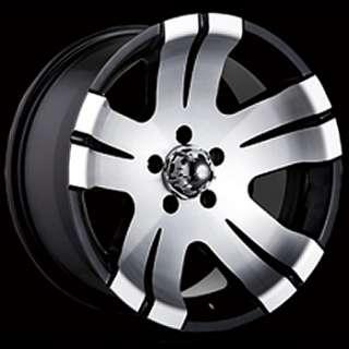 16x8 Black Wheel Alloy Ion Style 138 5x4.5 Wrangler Rim