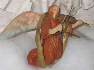 Vintage Paper Mache Cartapesta Angel Christmas Ornament~Italy