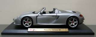 Porsche Carrera GT Diecast Model Car   Maisto   118 Scale   New in