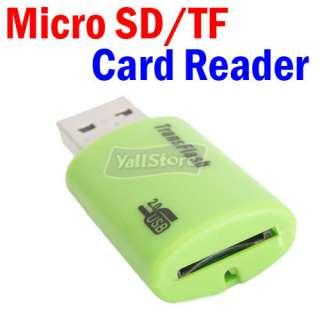 Mini USB 2.0 Professional Micro SD TF T Flash Card Reader/Writer Green