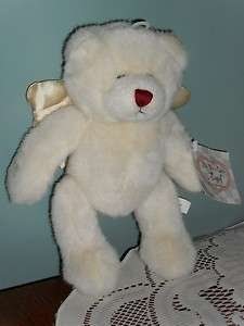 beanbag plush Ganz WHITE ANGEL BEAR w/Tag