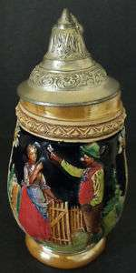 DBGM SMALL CERAMIC LIDDED BEER STEIN   GERMANY