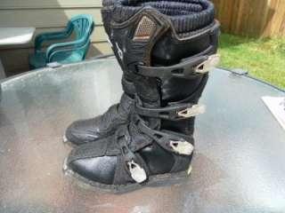 Fox kids motocross boots, size K3, used