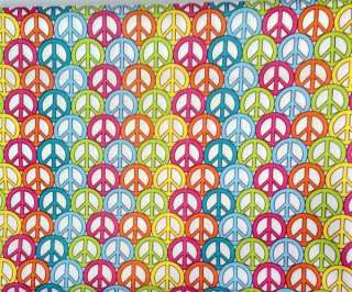 dog collar groovy mod peace signs lime pink aqua yellow blue and more