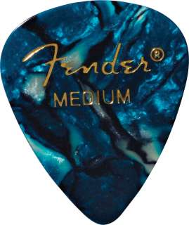 Fender Accessories 351 Premium Guitar Picks   Medium (Ocean Turquoise