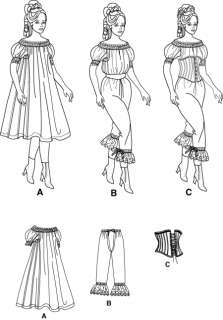 Simplicity Pattern 9769 Civil War Victorian Era Corset