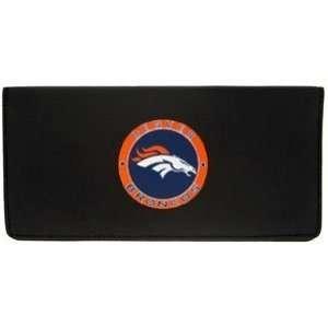 Denver Broncos Embossed Leather Checkbook Cover   NFL Football Fan