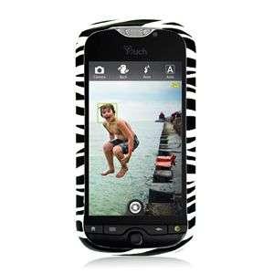 RUBBER BLACK ZEBRA HARD CASE FOR HTC MYTOUCH 4G SLIDE PROTECTOR SNAP