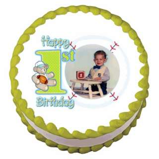 Birthday Baseball ~ Edible Image Icing Cake Topper ~ LOOK