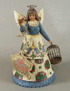 Jim Shore Heartwood Creek Angel Bird Cage Figurine