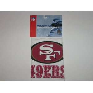 SAN FRANCISCO 49ERS Logo 16 x 25 GOLF / SPORTS TOWEL with Grommet