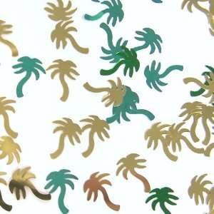 Lets Party By Green & Gold Palm Tree Confetti