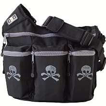 Diaper Dude Diaper Bag   Black with Skull & Crossbone   Diaper Dude