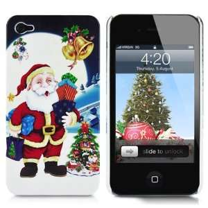 Merry Christmas Hard Plastic Case (Santa Claus & Moon) For